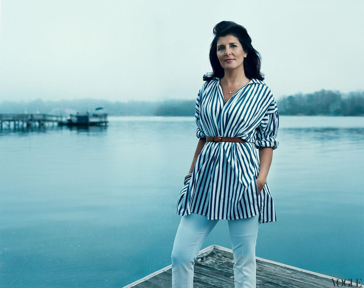 Haley going all Vogue on us Governor's look 'very Jackie O'