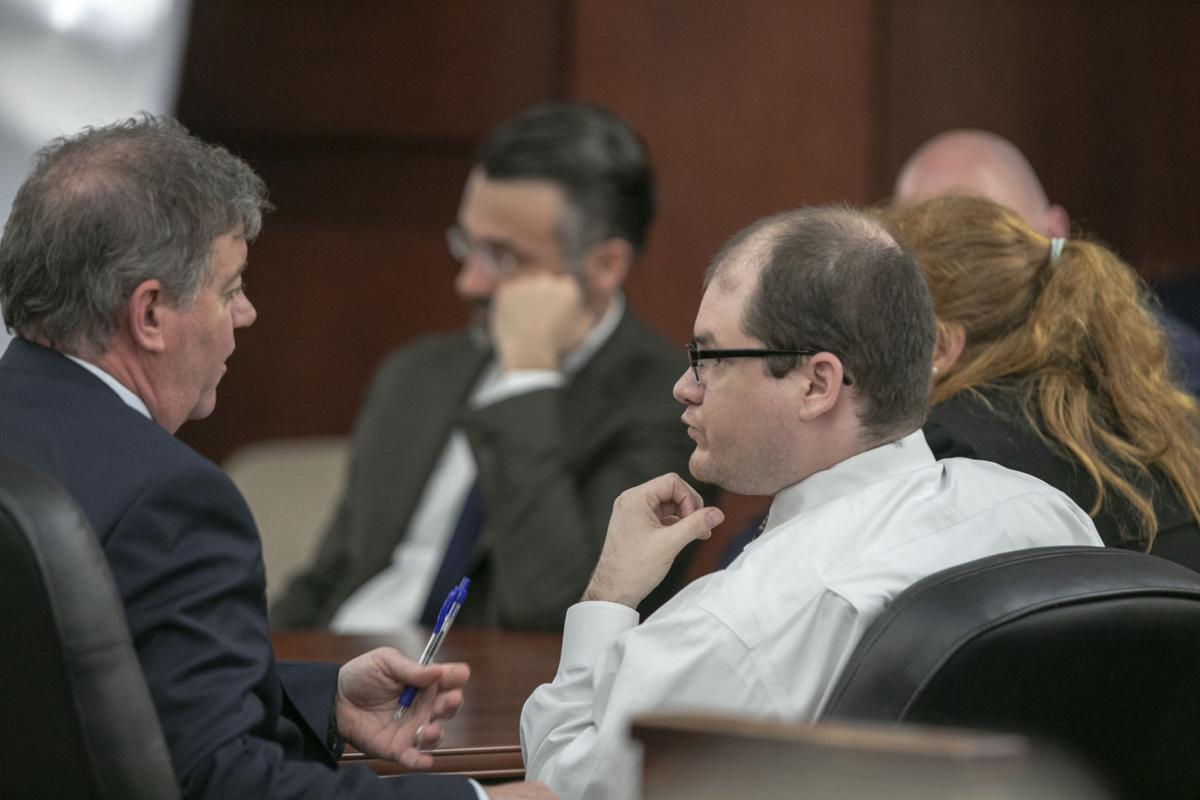 Tim Jones trial talking with Young after sentencing (copy)