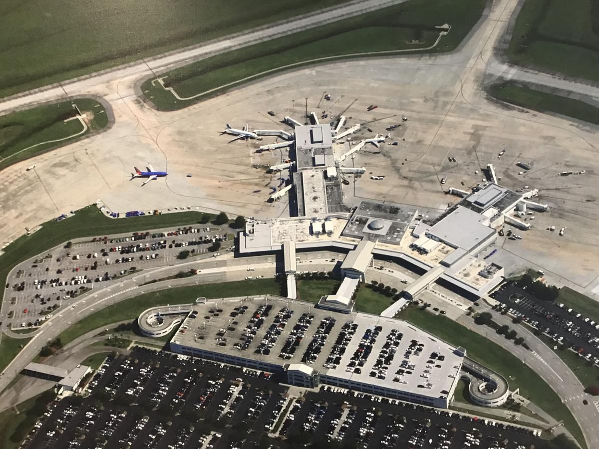 Charleston airport aerial