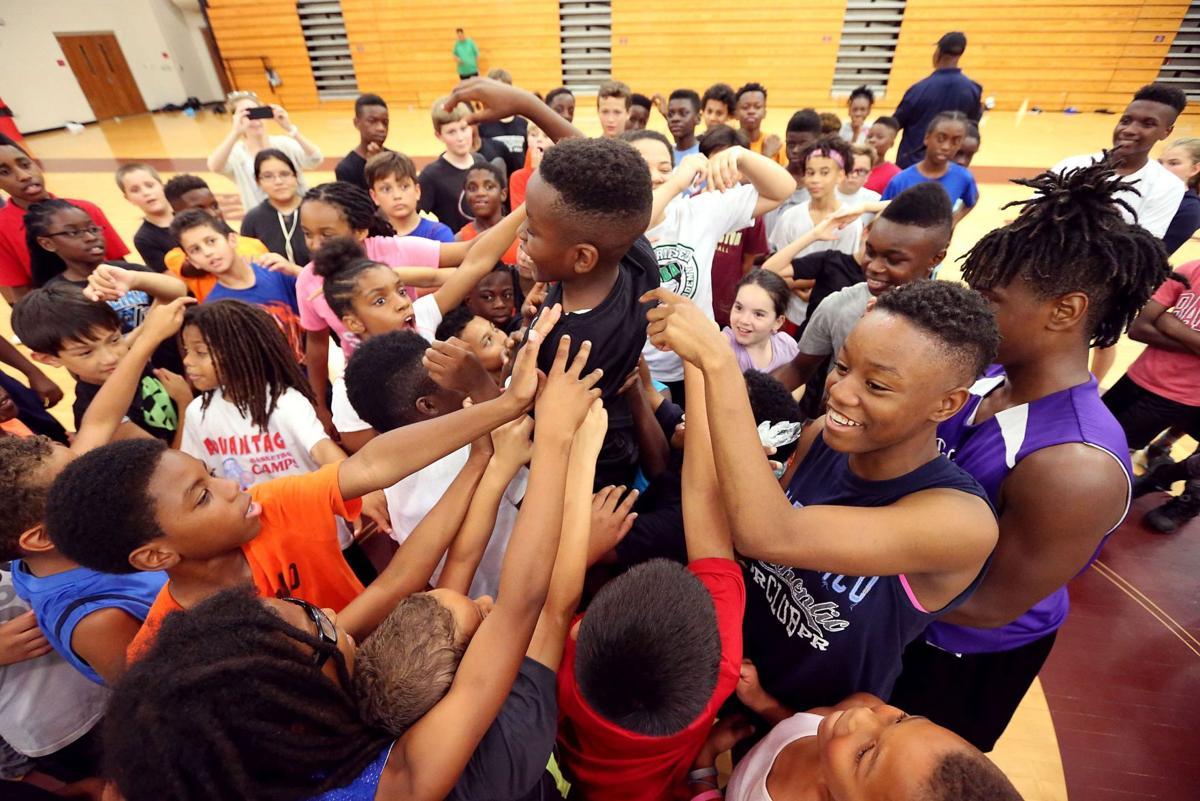 Khris Middleton basketball camp