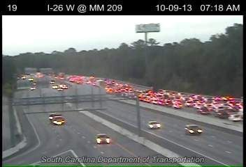 Traffic on I-26 back to normal after wreck