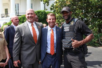 White House: Kevin Youngblood, Billy Davis and Dabo Swinney