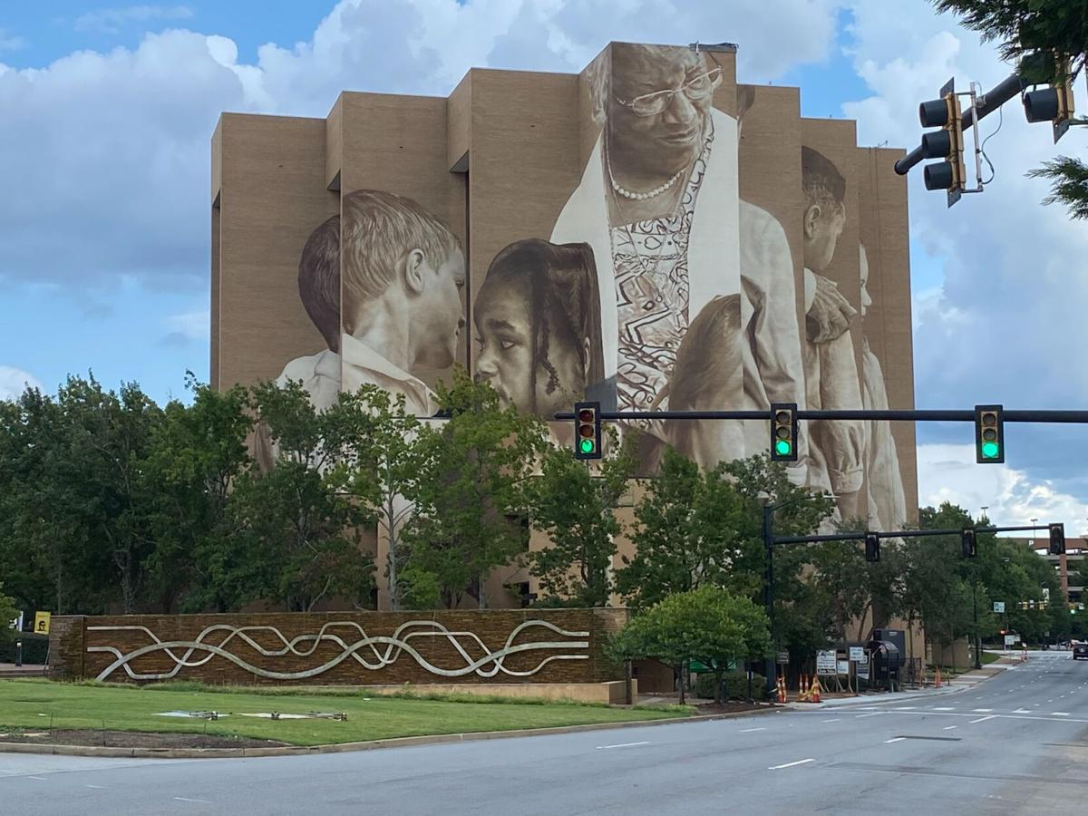 Downtown Greenville Canvas Tower mural
