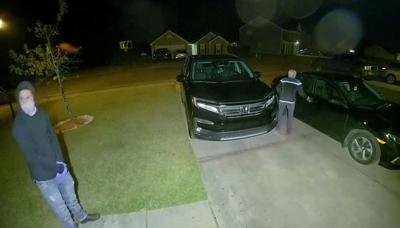 Video captures images of auto break-in suspects