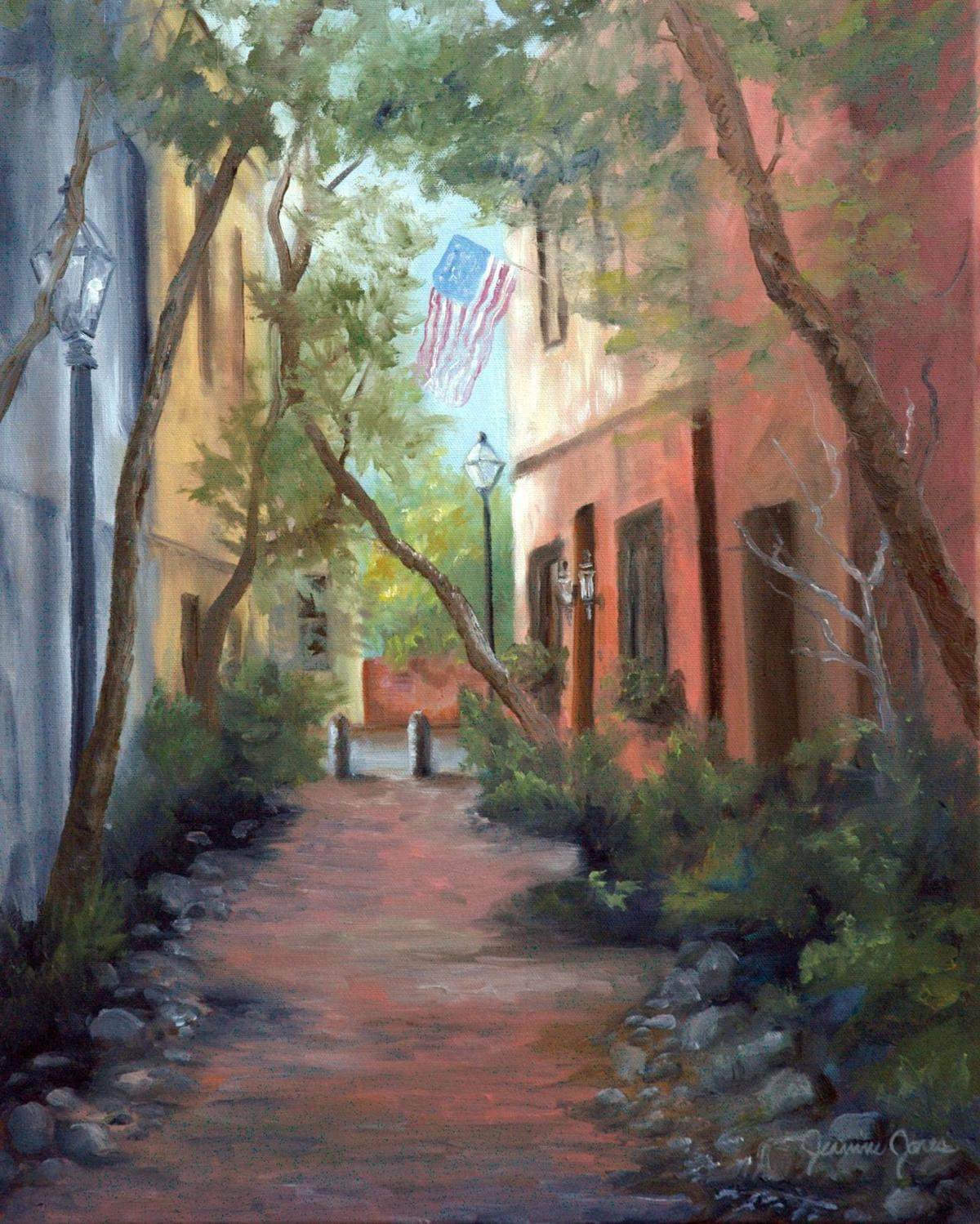Artist captures city's beauty with a patriotic touch