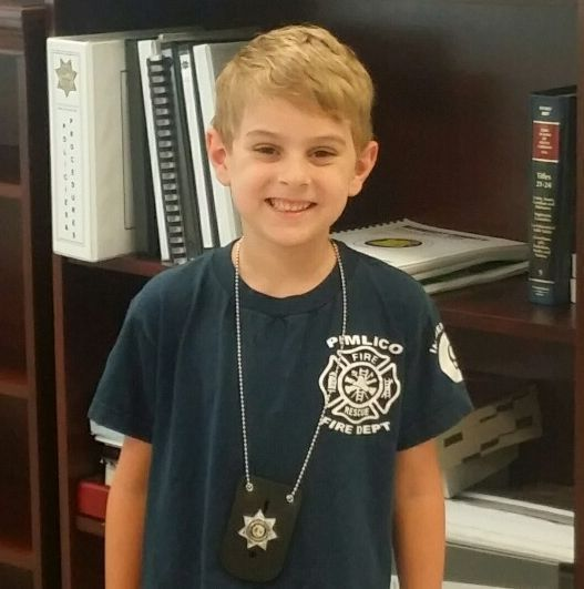 5-year-old Berkeley County boy gets Civilian Service Award