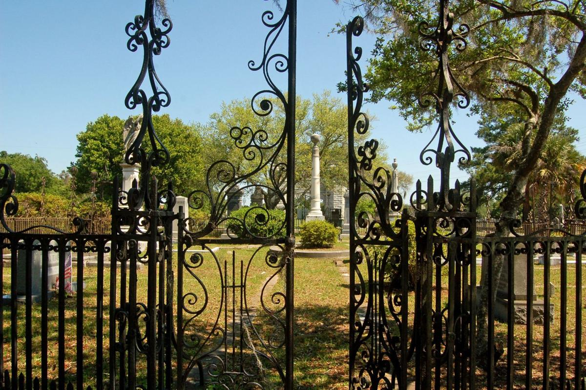 Wrought-iron treasure at risk 19th-century fence at local cemetery 1 of Seven to Save