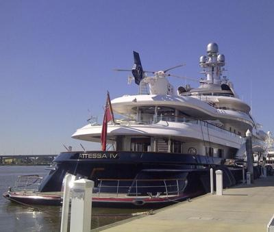 Billionaire S Attessa Iv And Its Helicopter One Of Many Huge