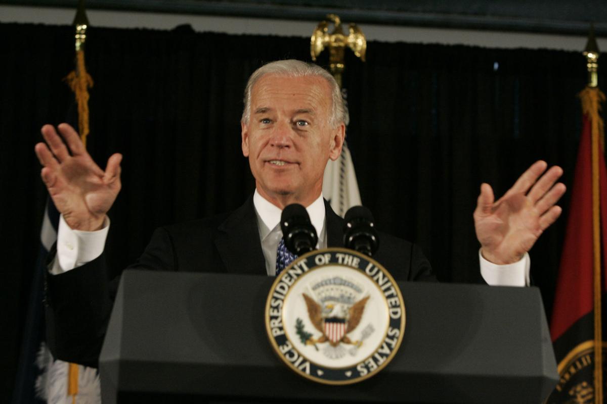 Vice President Joe Biden arriving in Charleston tonight