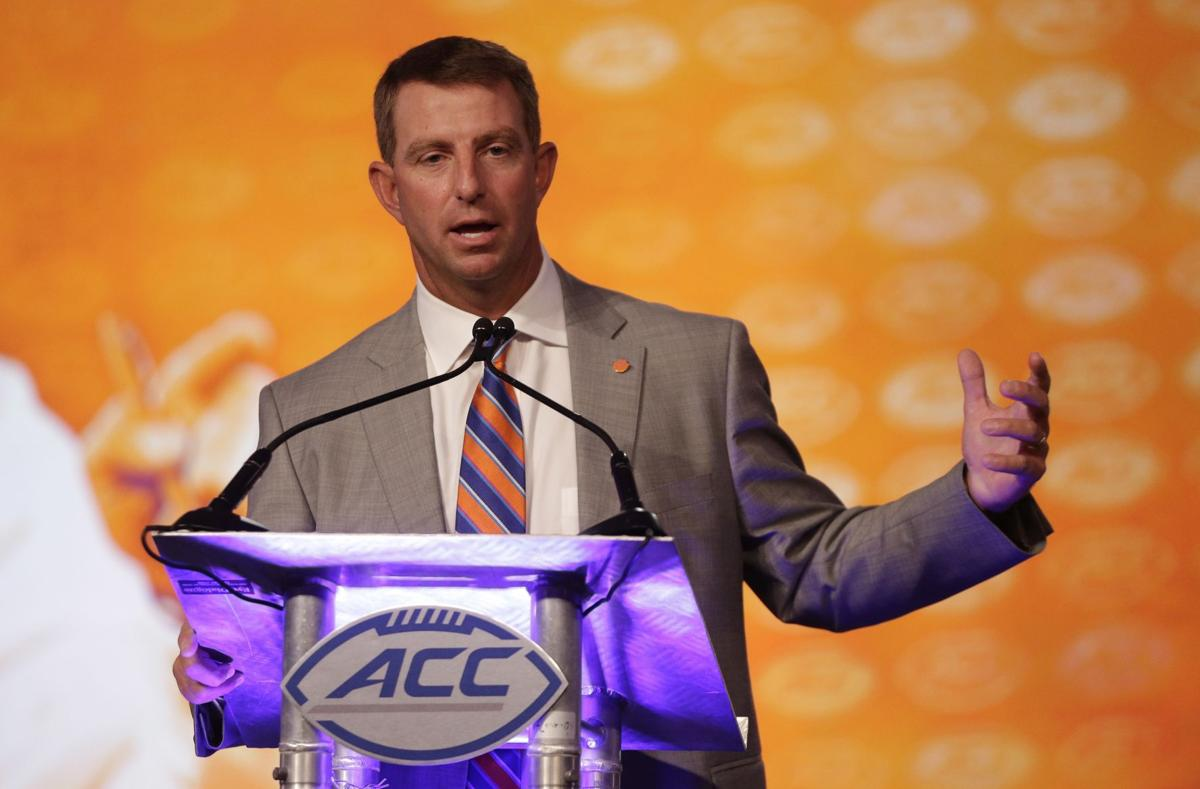 ACC football notes: Swinney wouldn't want kickoffs to disappear
