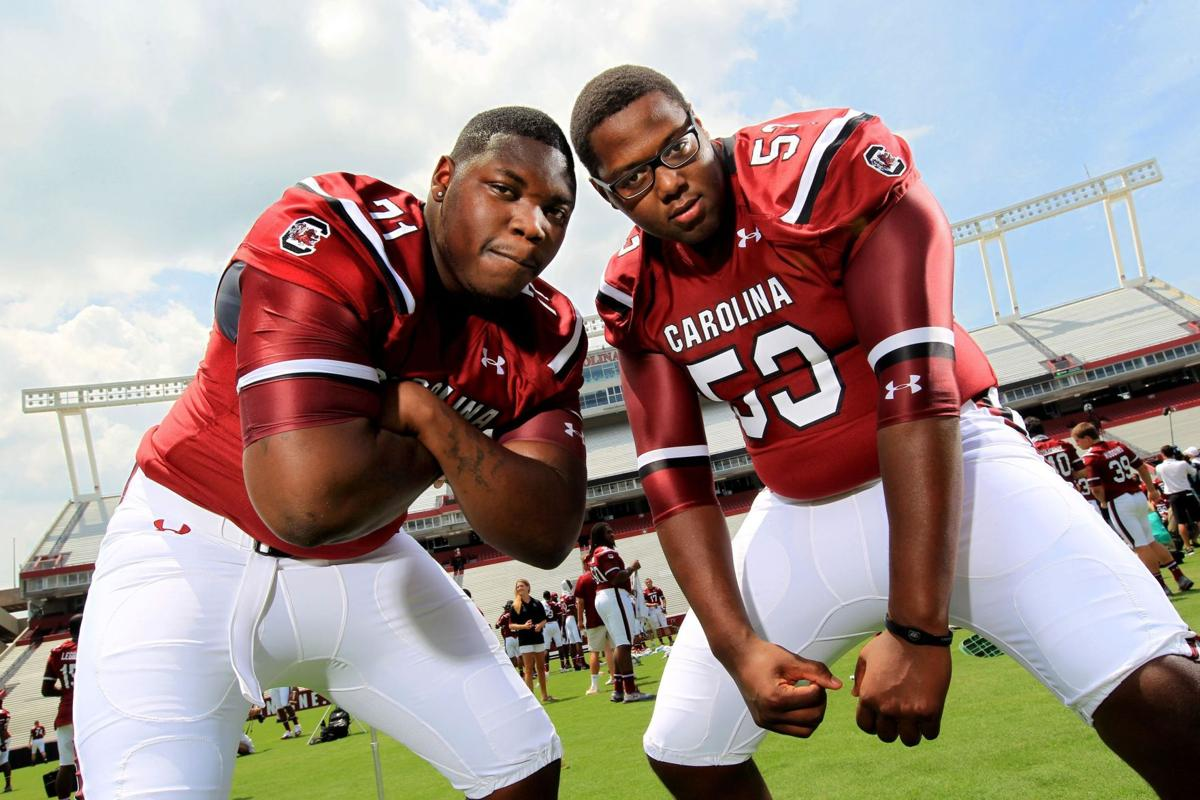 Three-fifths of South Carolina's offensive line on Outland watch list