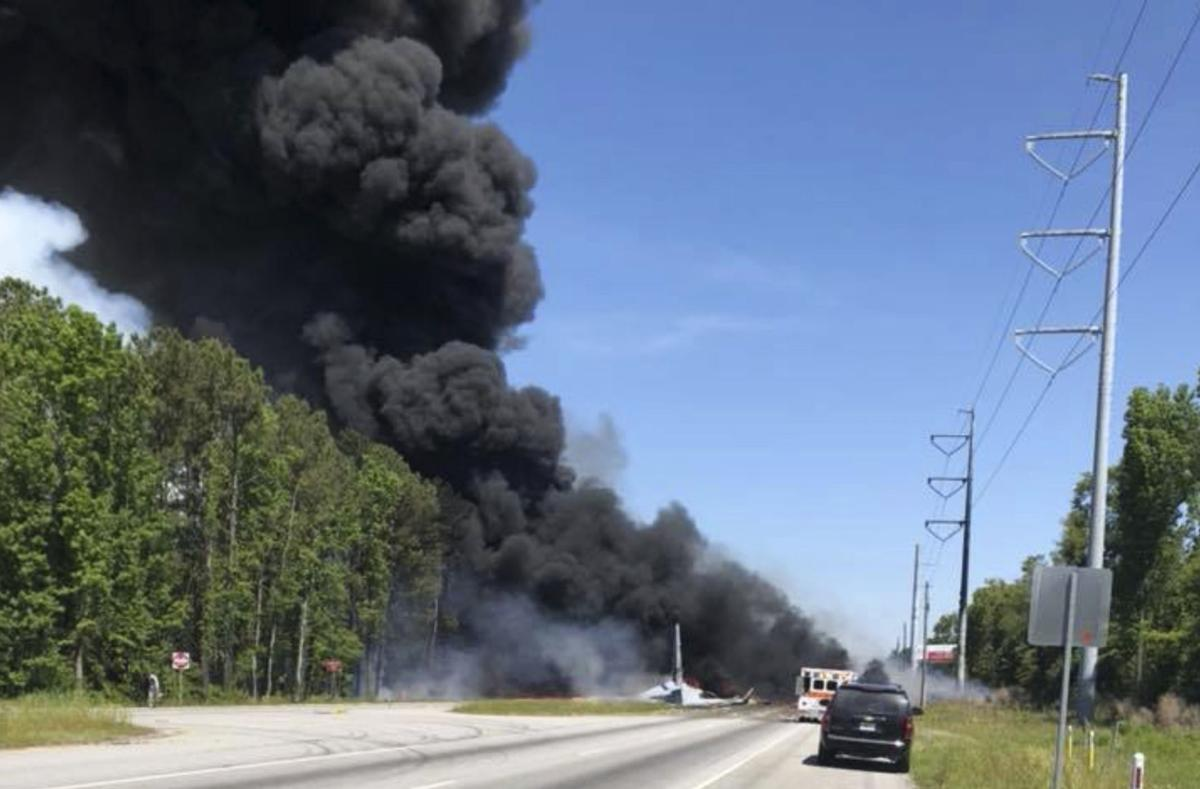 9 dead after 60-year-old military plane crashes in Savannah