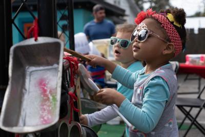 kids area at Taste of Folly