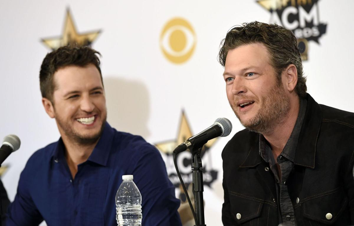 Shelton, Bryan work as comedic duo as hosts of ACM awards on Sunday