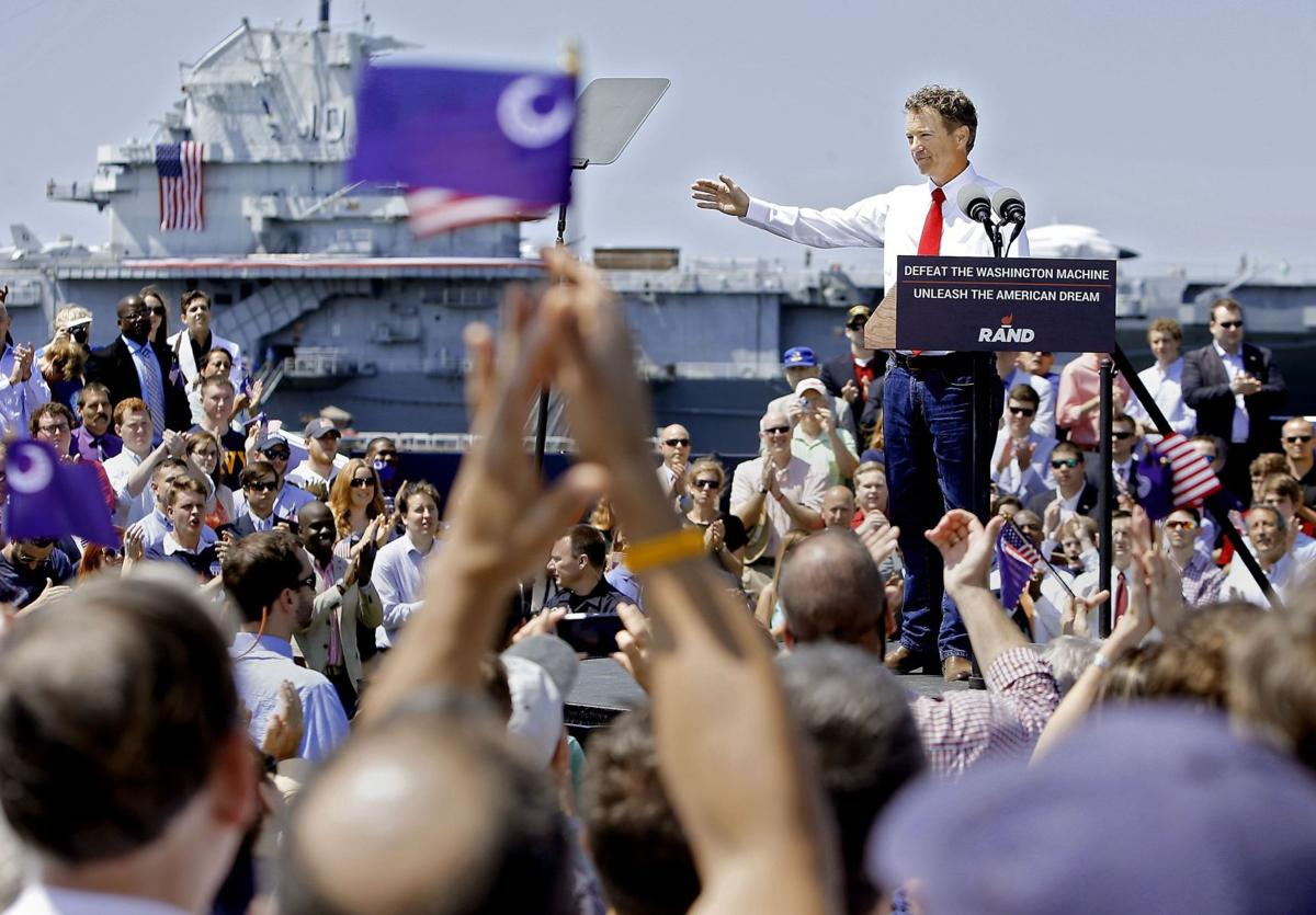 Yorktown backdrop for Rand Paul's tough talk on defense