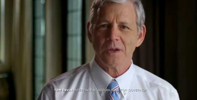 Tom Ervin wants to repeal the state's income tax