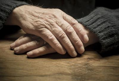 Elderly hands illustration