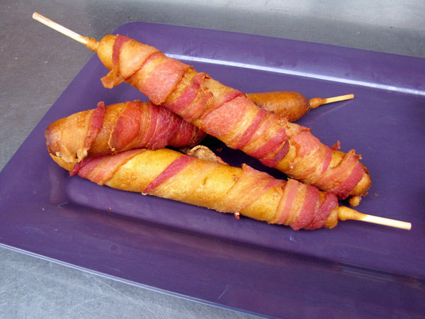 Get on the stick: From corn dogs to fondue, pile on some skewered food for a fun party factor