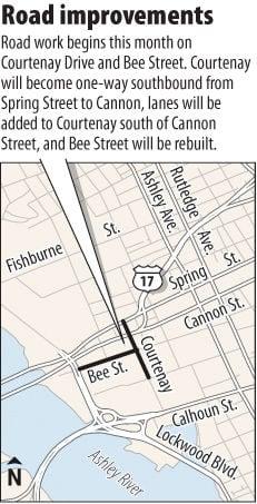 Road work begins at Bee, Courtenay streets