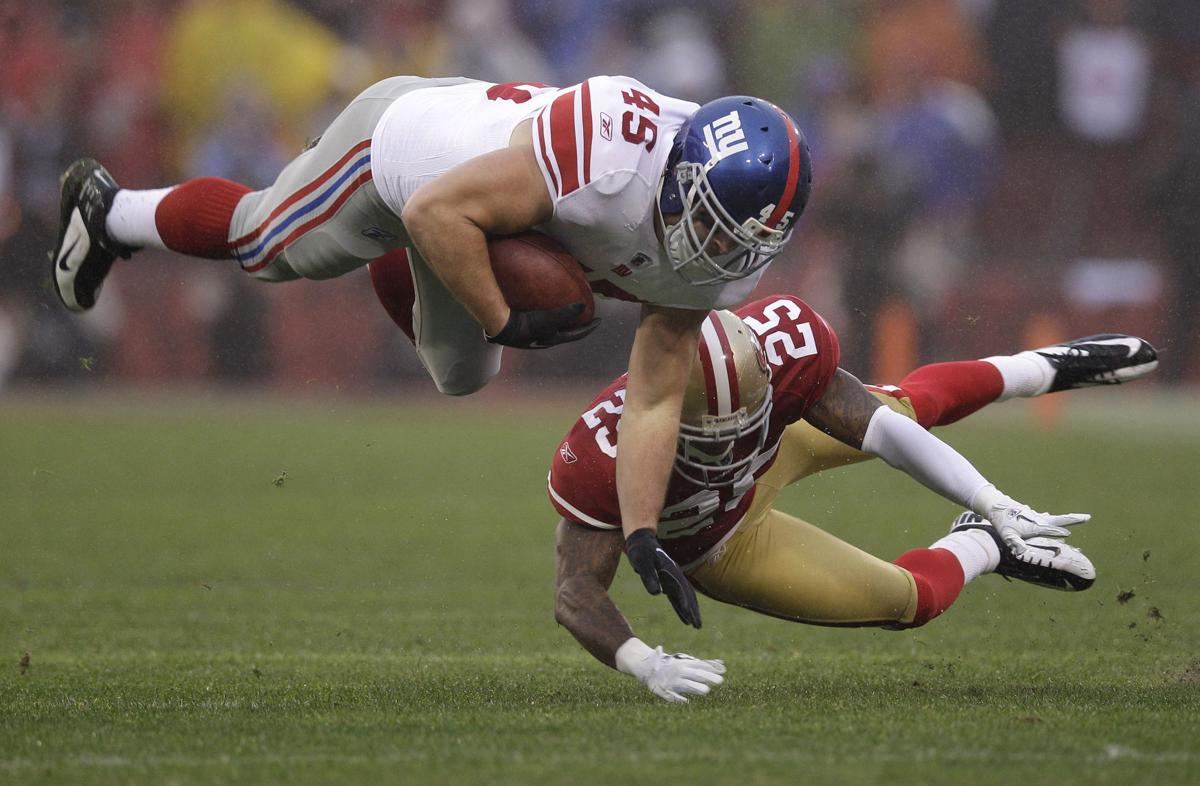 The New York Giants defeated the San Francisco 49ers 20-17 to win the NFC Championship.