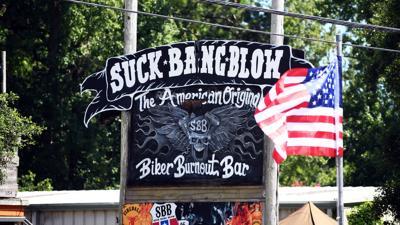 Suck Bang Blow sign