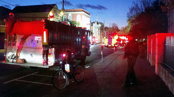 Fire empties Ansonborough House early this morning, but firefighters quickly contain blaze
