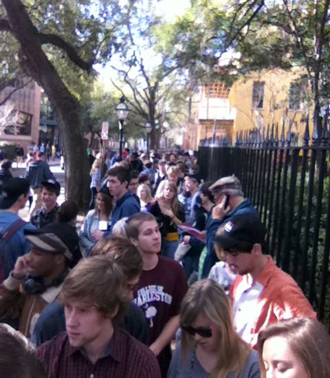 Colbert, Cain arrive to large crowd at College of Charleston rally