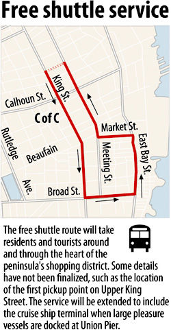 Free shuttle to serve city shopping district