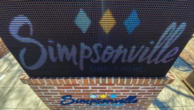 Simpsonville sign - Feb. 2021