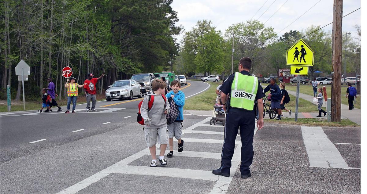 Residents want raised crosswalk at Sangaree schools