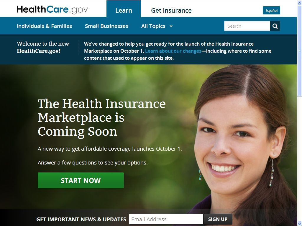 Federal health care website promises insurance marketplace 'coming soon'