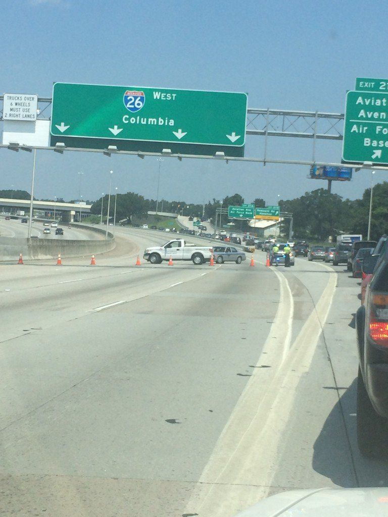Wreck cleared from westbound lanes of I-26