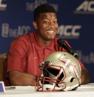 Heisman Trophy winner Winston smiles, shines in the spotlight