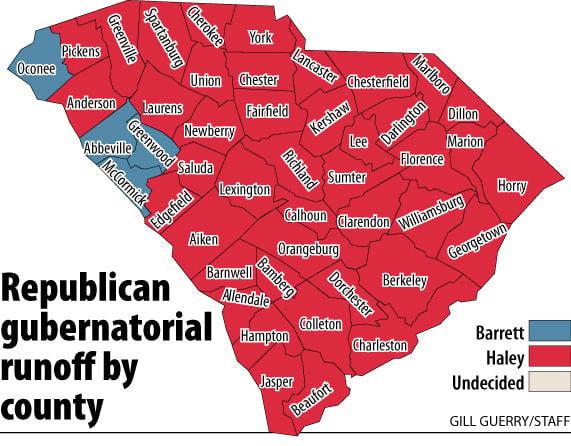 Haley selected GOP gubernatorial nominee