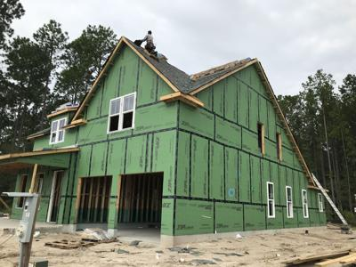 New home construction in Nexton