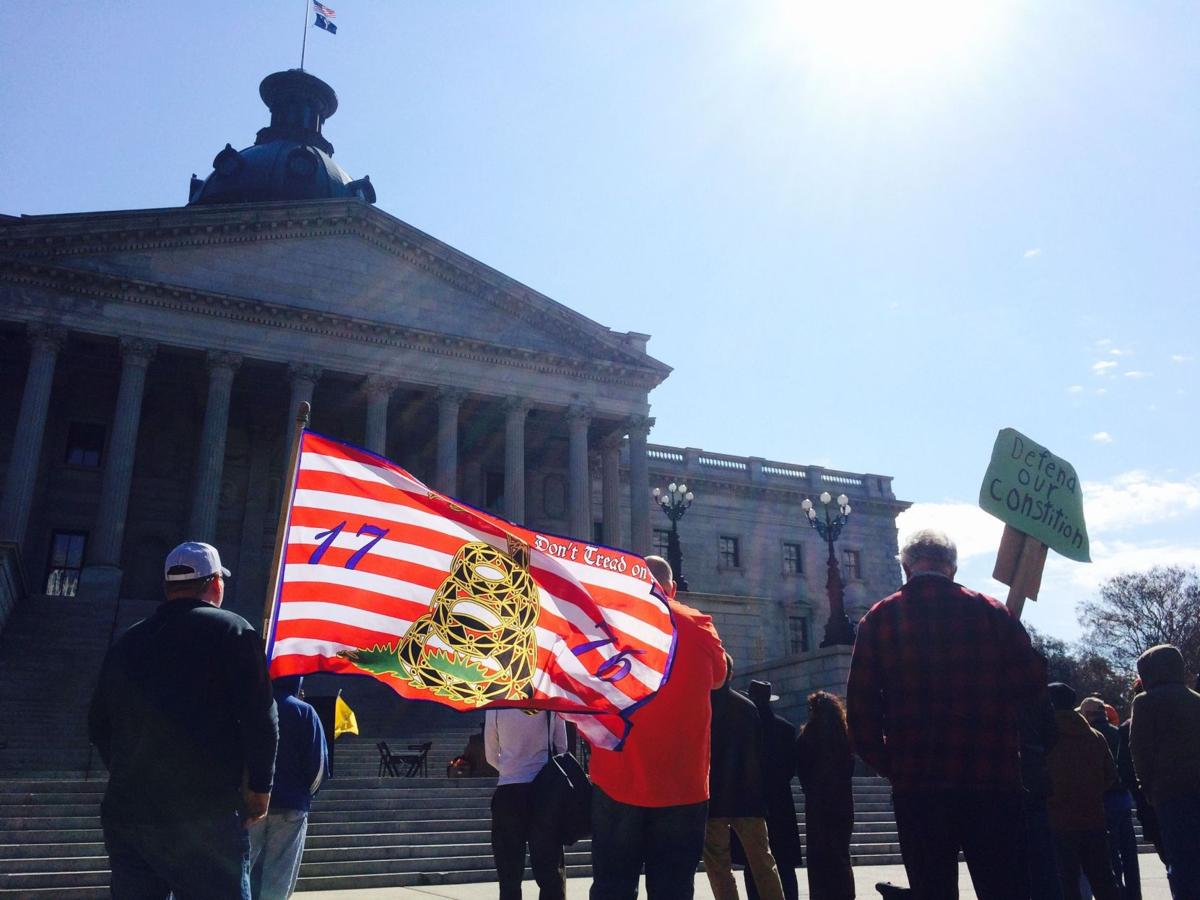 Second Amendment activists gather at Statehouse rally in midst of domestic violence debate