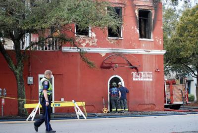 Charleston firefighters contain fire at Big John's Tavern downtown
