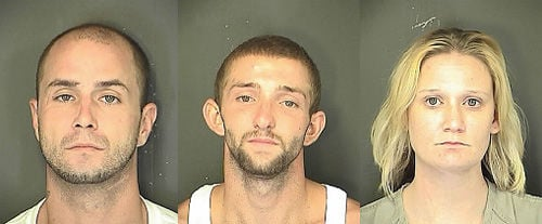 Three arrested in connection with burglary, armed robbery