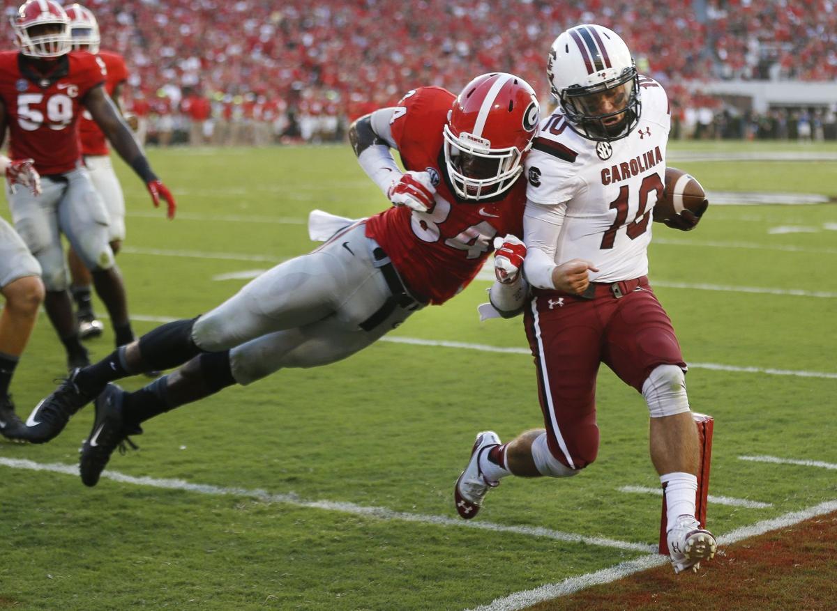 Halftime in Athens: No. 7 Georgia 24, South Carolina 13