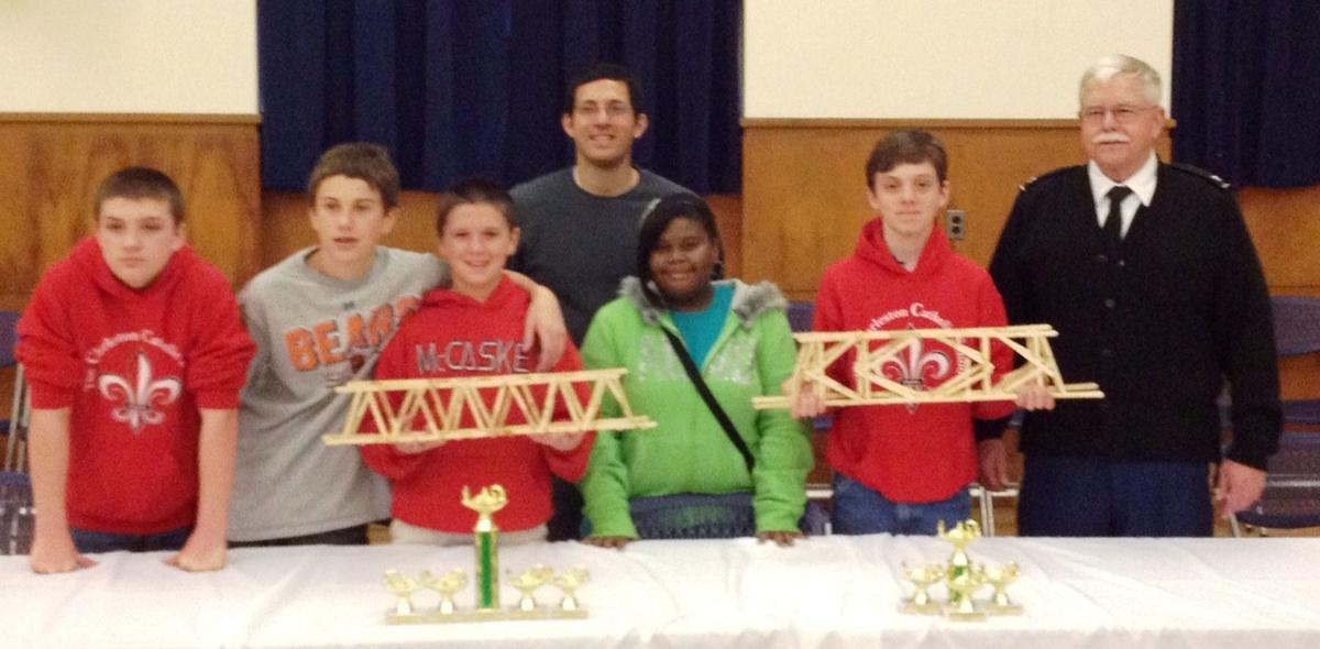 Charleston Catholic School wins nine awards in Lowcountry Bridge Competition