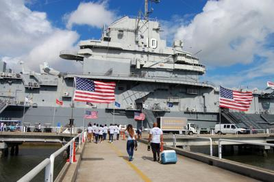 Patriots Point Yorktown visitors June 16 2017 (copy)
