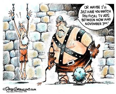 Political ads cartoon for Sept. 30