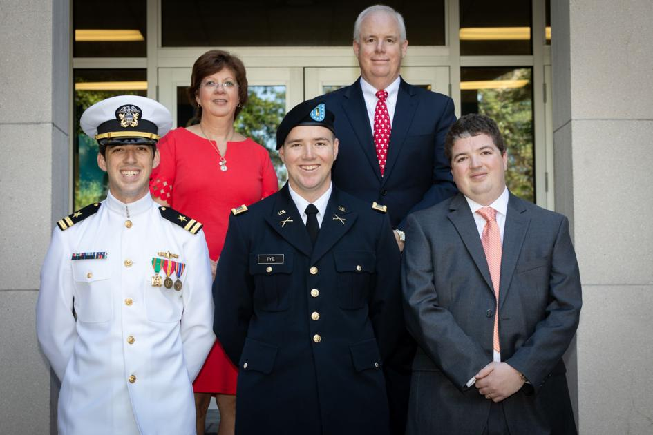 Family affair - 3 Citadel brothers receive degree from father