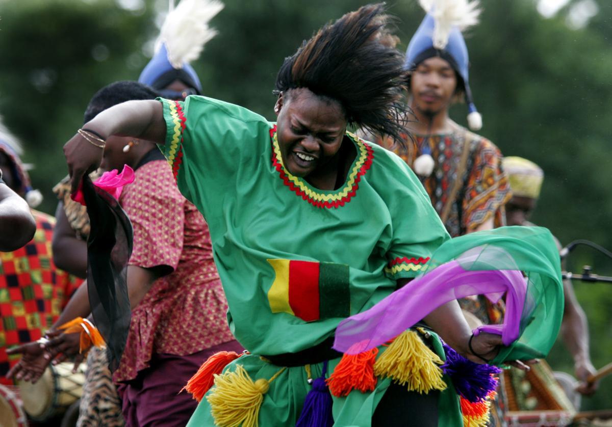 Adande African Drum and Dance Company dancer