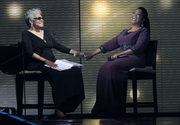 Stars surprise Oprah in farewell