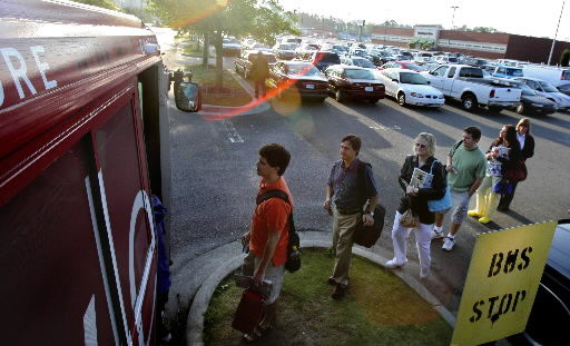 Gas prices drive folks to take bus