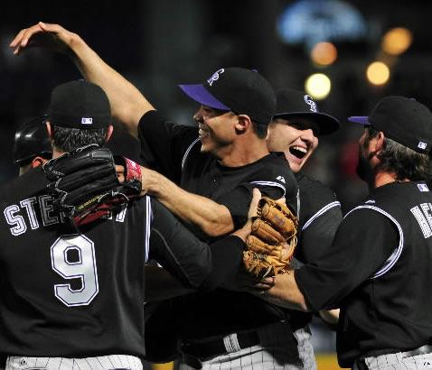 Rockies' Jimenez no-hits Braves