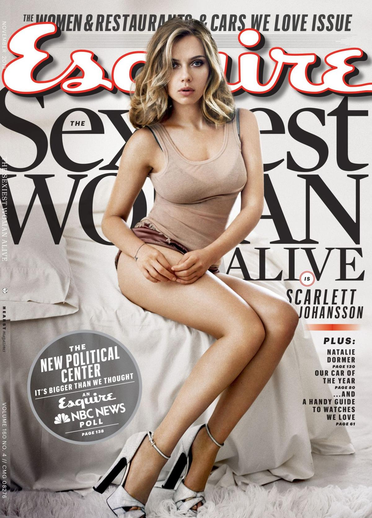 Scarlett Johansson the first to twice be named the 'sexiest woman alive' by Esquire