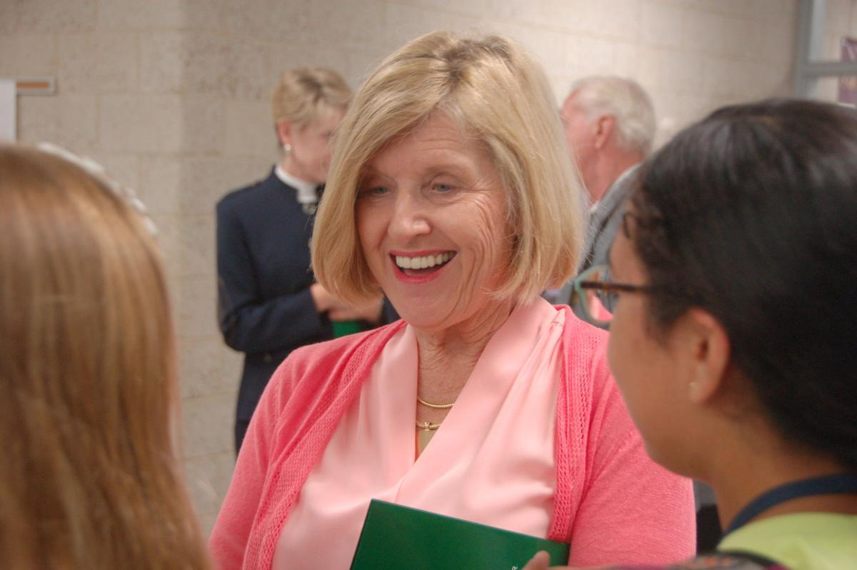 Molly Spearman at Laing Middle School (Feb. 28, 2018 copy)