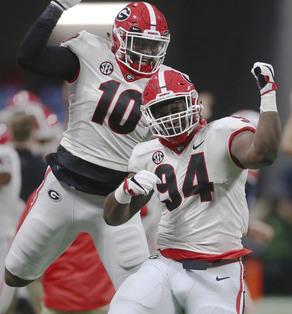 1abfb01c6 APTOPIX SEC Championship Football. Buy Now. Georgia s Malik Herring (10) ...